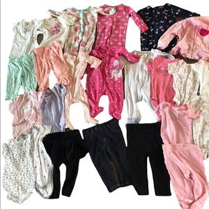 Large lot of 6-9 month girl clothing